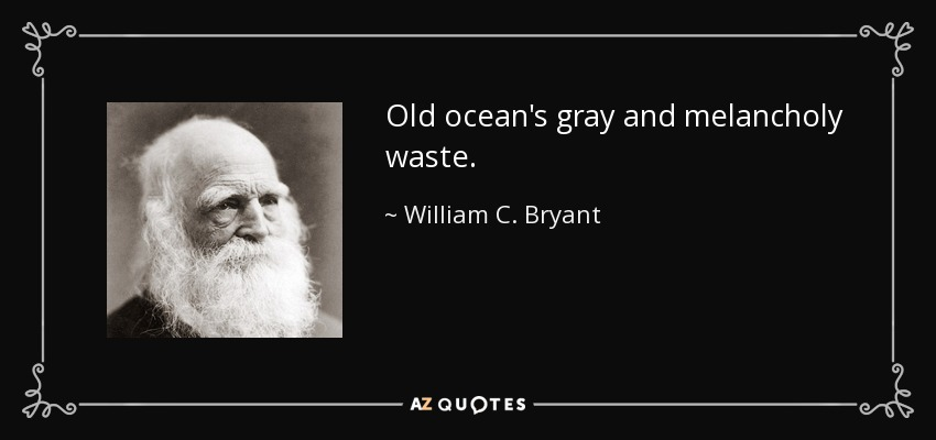 Old ocean's gray and melancholy waste. - William C. Bryant
