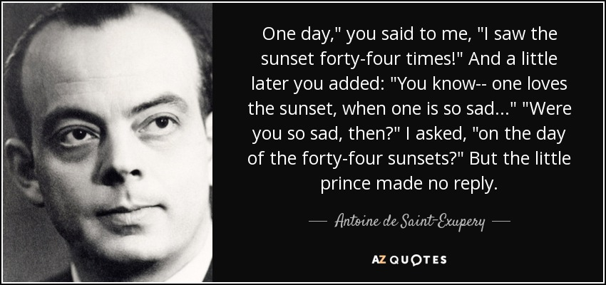 Antoine De Saint Exupery Quote One Day You Said To Me I Saw The