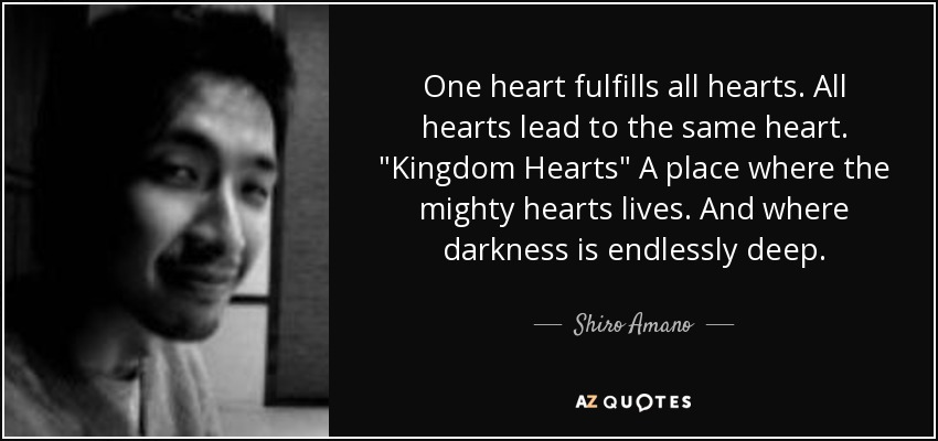One heart fulfills all hearts. All hearts lead to the same heart.