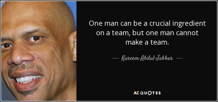 TOP 25 QUOTES BY KAREEM ABDUL-JABBAR (of 187)