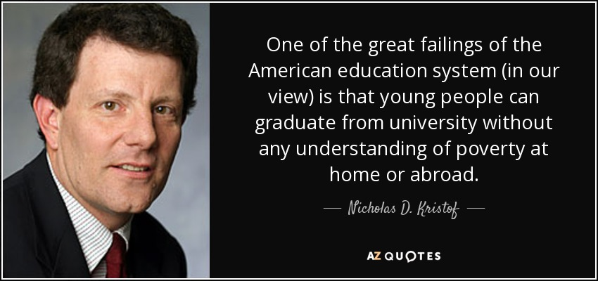nicholas d kristof quote one of the great failings of the
