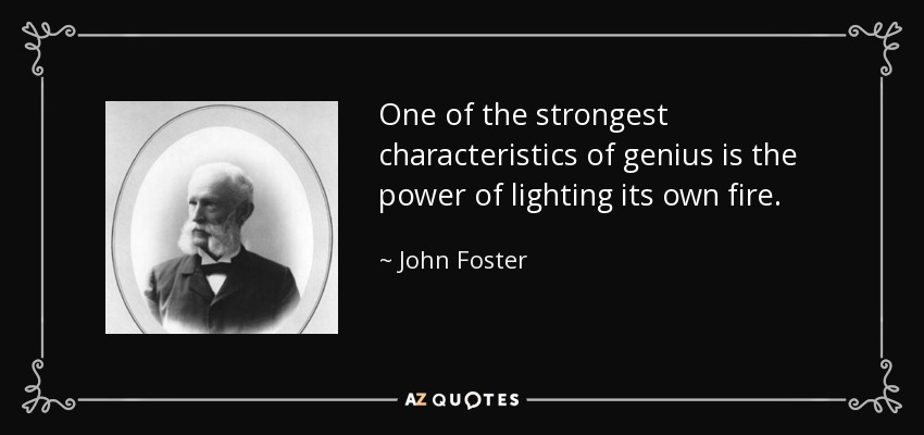 The Power Of One Quotes: QUOTES BY JOHN FOSTER