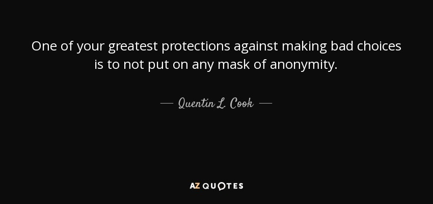 Quentin L Cook Quote One Of Your Greatest Protections Against