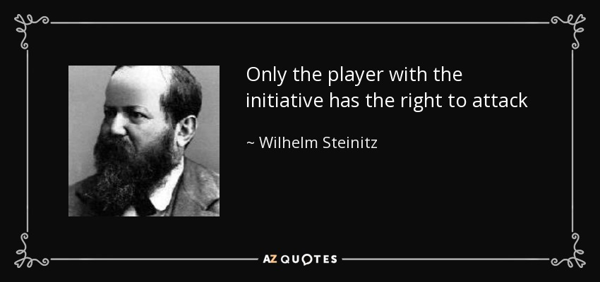 Only the player with the initiative has the right to attack - Wilhelm Steinitz