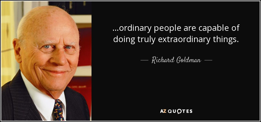 Ordinary People, Extraordinary Things