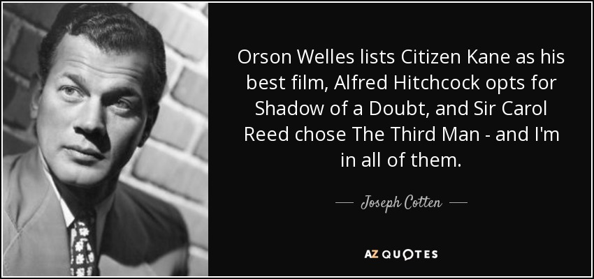 The life and passion of orsol welles in film