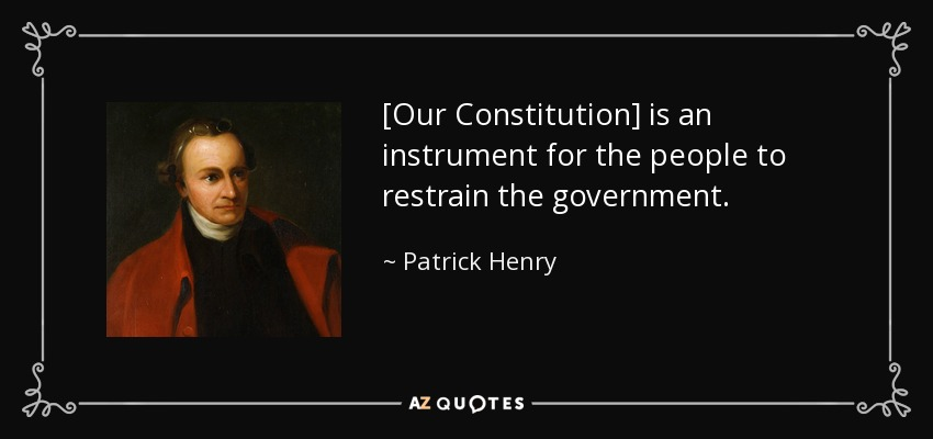 did patrick henry sign the constitution