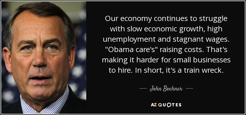 Our economy continues to struggle with slow economic growth, high unemployment and stagnant wages.