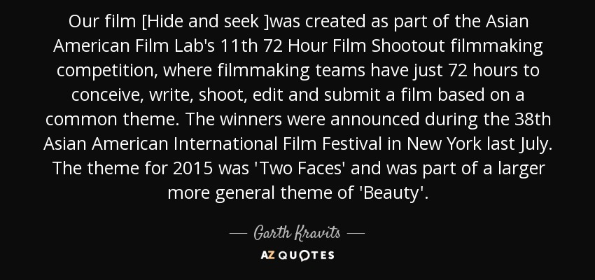 TOP 8 QUOTES BY GARTH KRAVITS