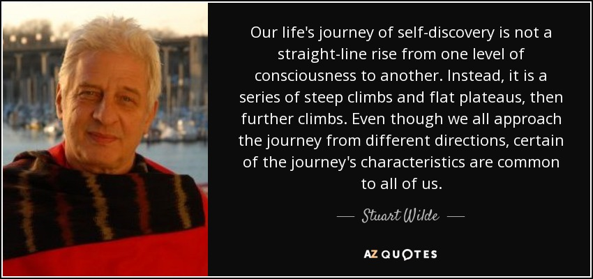 Al Inspiring Quote On Self Discovery: Stuart Wilde Quote: Our Life's Journey Of Self-discovery