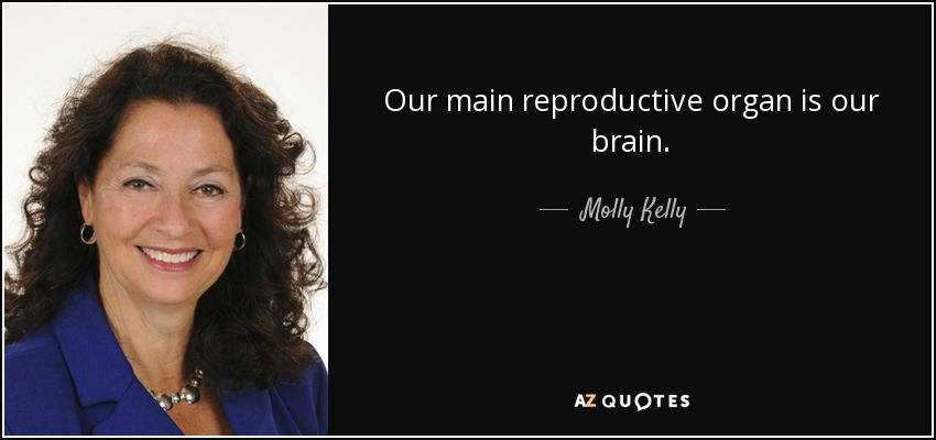 Our main reproductive organ is our brain. - Molly Kelly