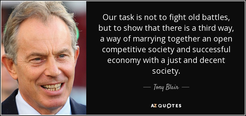 Tony Blair quote: Our task is not to fight old battles, but to...