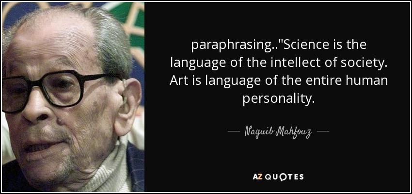 paraphrasing..