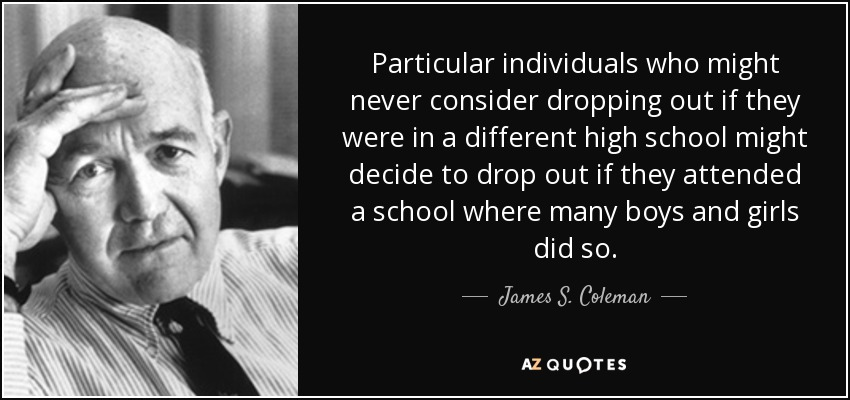 James S. Coleman Quote: Particular Individuals Who Might