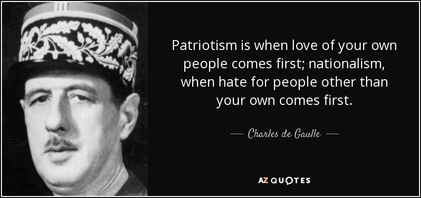 "love and patriotism 1 conceptual issues 11 what is patriotism the standard dictionary definition reads ""love of one's country"" this captures the core meaning of the term in."