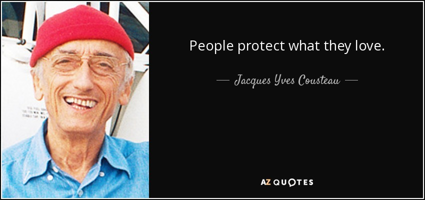People protect what they love. - Jacques Yves Cousteau