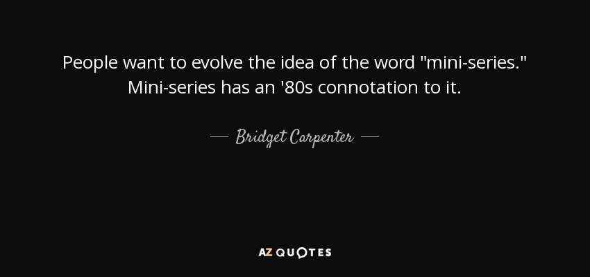 People want to evolve the idea of the word
