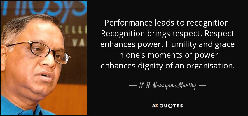 narayana murthy leadership quality Enjoy the best n r narayana murthy quotes (page 2) at brainyquote quotations by n r narayana murthy, indian businessman, born august 20 share with your friends.