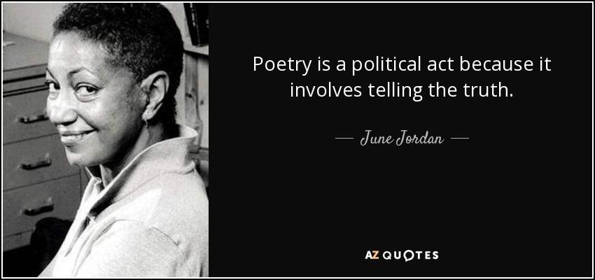 June Jordan poem we are the ones