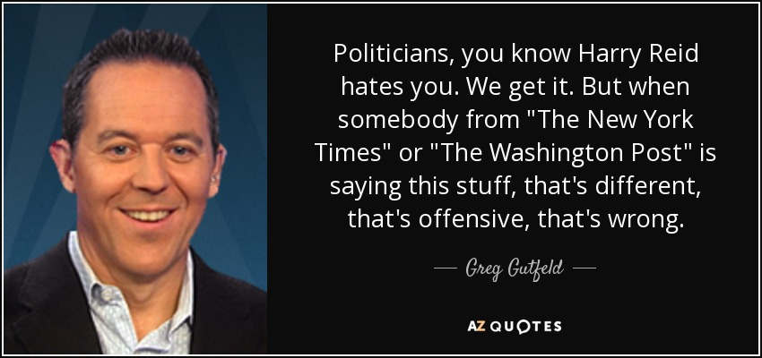 Politicians, you know Harry Reid hates you. We get it. But when somebody from