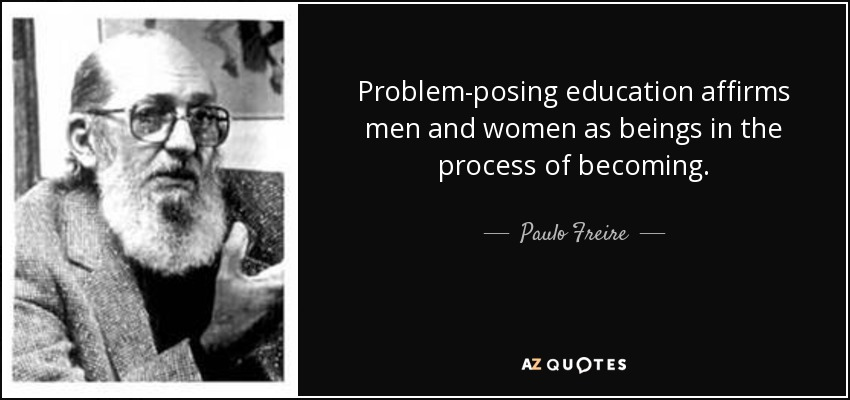 the problem posing method Problem posing in teacher education: a freirian approach houser,  teaching experience, problem based learning, case method.