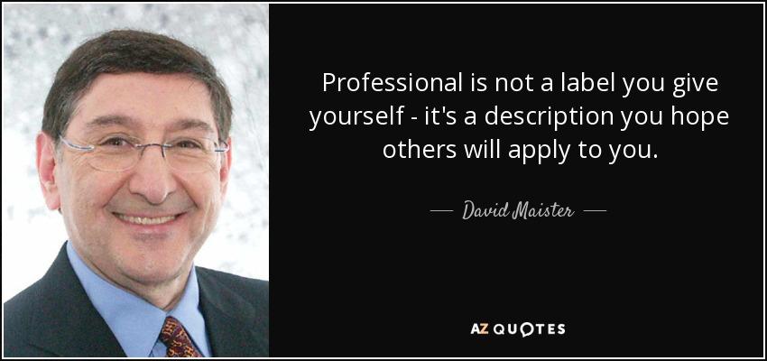 david maister quotes