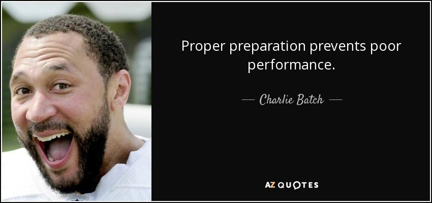 Are planning prevents piss poor performance