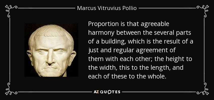 Marcus Vitruvius Pollio Quote Proportion Is That Agreeable Harmony