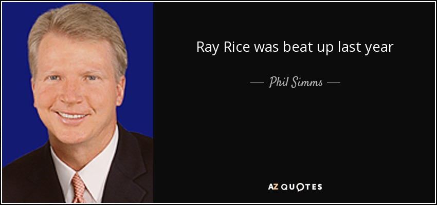 Ray Rice was beat up last year - Phil Simms
