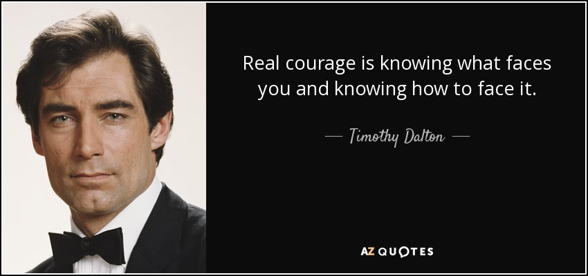 real courage The real courage was listening to his conscience and defending what he knows is right instead of taking the easy way out by standing with the whites.