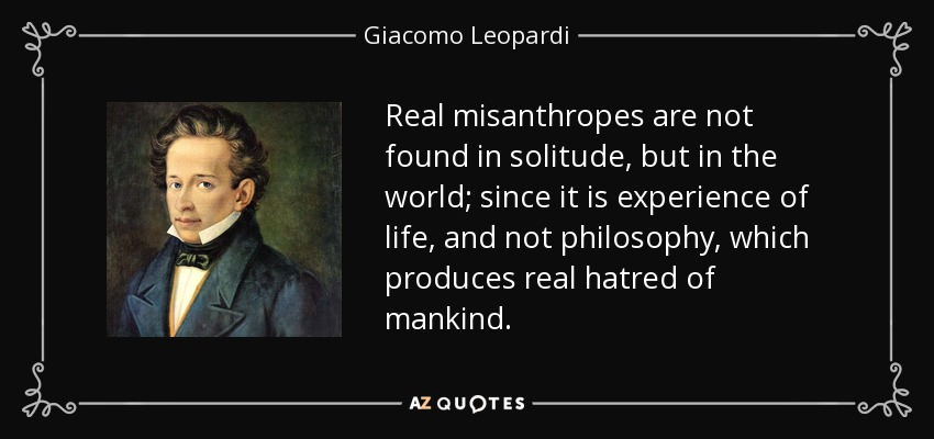 What is a misanthrope