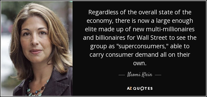 Regardless of the overall state of the economy, there is now a large enough elite made up of new multi-millionaires and billionaires for Wall Street to see the group as