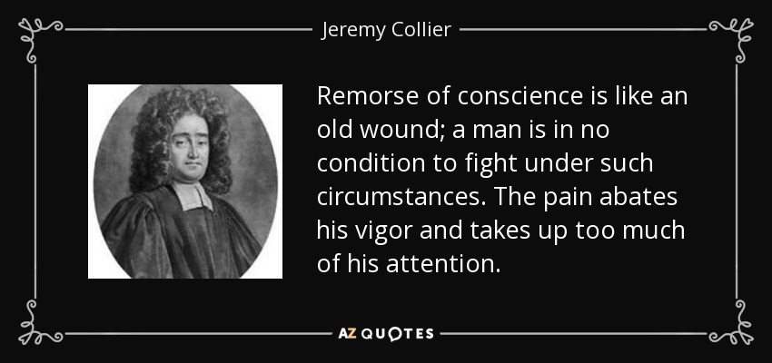 remorse of conscience