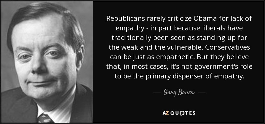 Gary Bauer Quote Republicans Rarely Criticize Obama For Lack Of