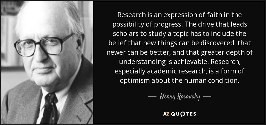 Quotes On Research Delectable Top 25 Quoteshenry Rosovsky  Az Quotes