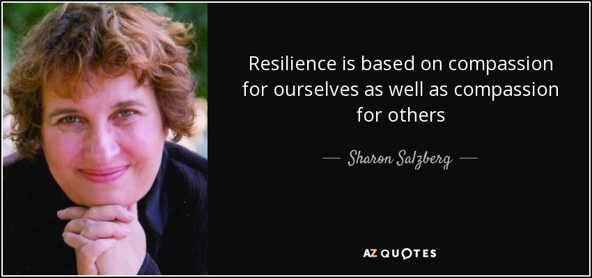 Resilience is based on compassion for ourselves as well as compassion for others - Sharon Salzberg
