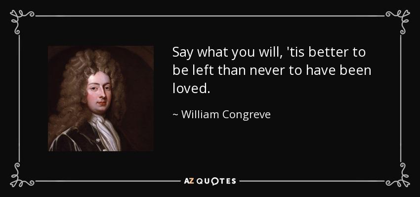 William Congreve anger quotes