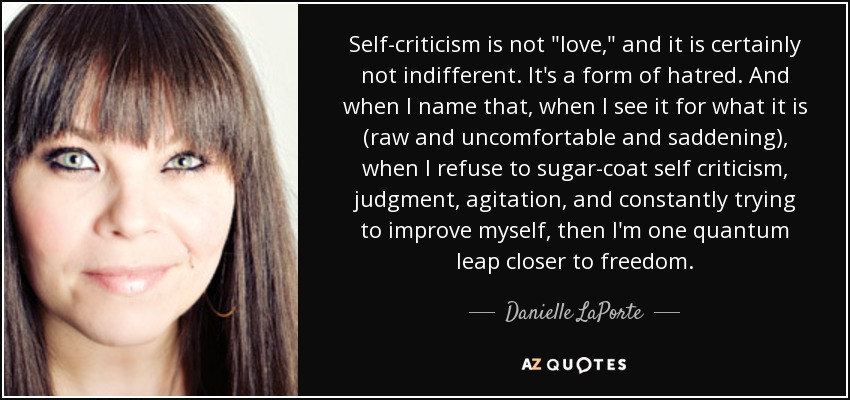 Self-criticism is not
