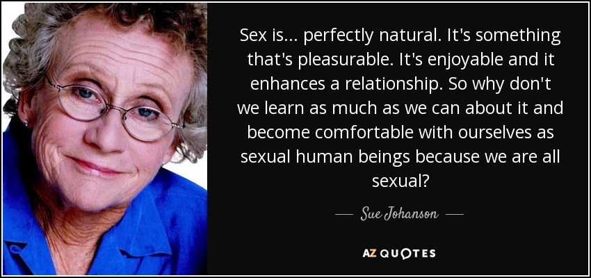Do it yourself talk sex with sue johson with pillow