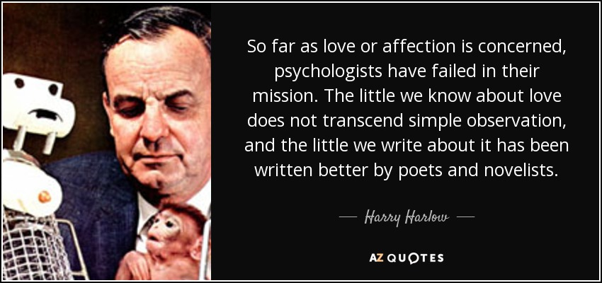 Quotes By Harry Harlow A Z Quotes