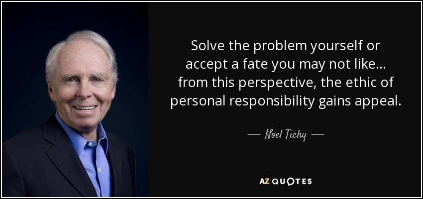 responsibility to solve problem Employees often think that, because managers and leaders are more senior (and more highly paid), it is their responsibility to solve problems and make decisions so they arrive at your office door all ready to give you the monkeys on their backs too.