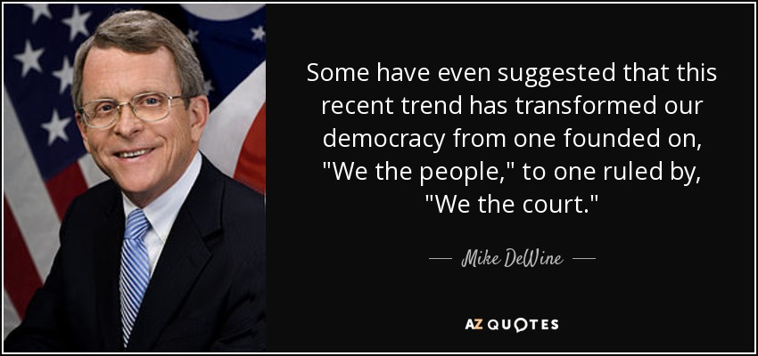 Some have even suggested that this recent trend has transformed our democracy from one founded on,