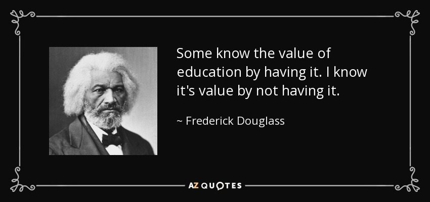 Frederick douglass essay education