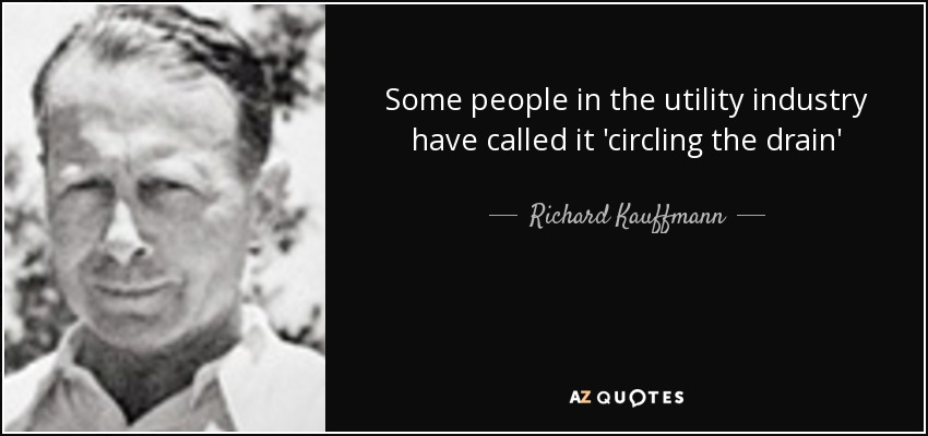 Some people in the utility industry have called it 'circling the drain' - Richard Kauffmann