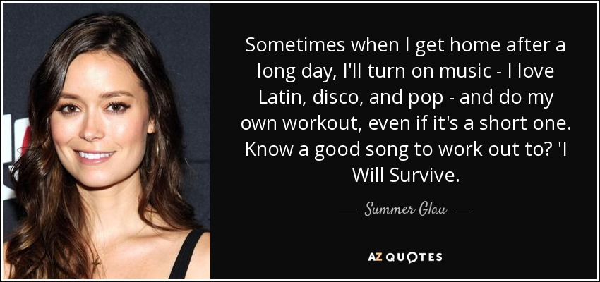 Summer Glau quote: Sometimes when I get home after a long