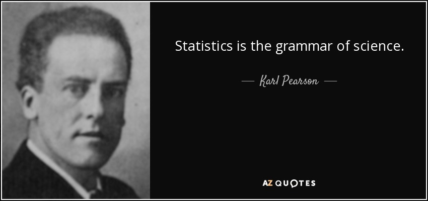Statistics is the grammar of science. - Karl Pearson