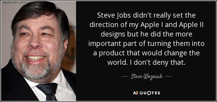 Steve Jobs Didnt Really Set The Direction Of My Apple I And II