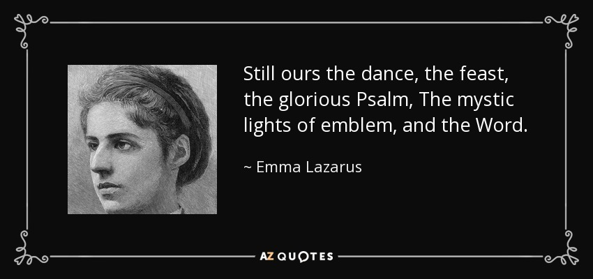 Emma Lazarus feast of lights