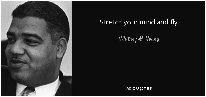 Stretch your mind and fly. - Whitney M. Young