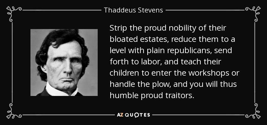 Thaddeus stevens essay